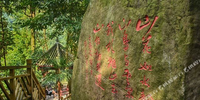崇州卧龙潭酒店1晚 森林栈道【地处九龙沟风景区,原生态的森林环境,天
