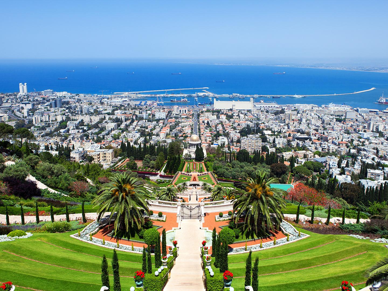 巴哈伊空中花园图片