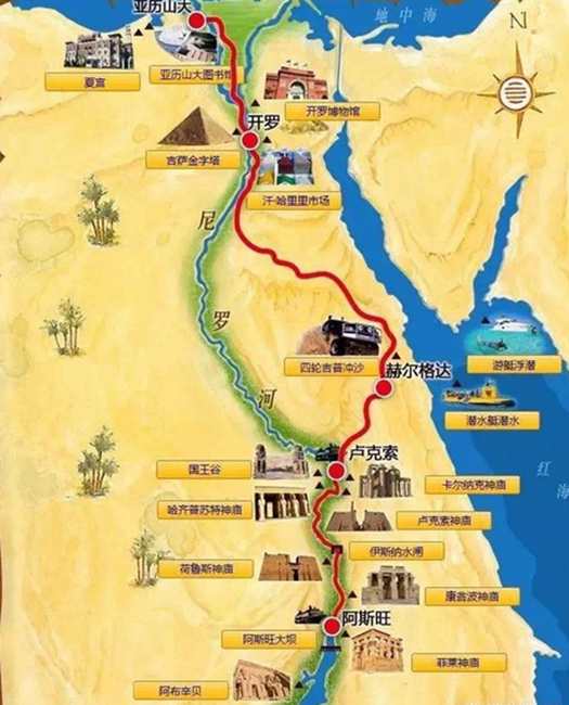 开罗游轮五层完美布局_埃及开罗 卢克索 阿斯旺 红海red sea11日8晚跟团游(5