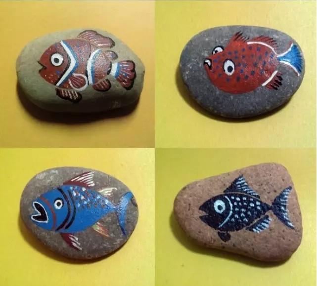 正佳极地海洋世界,创意石头彩绘