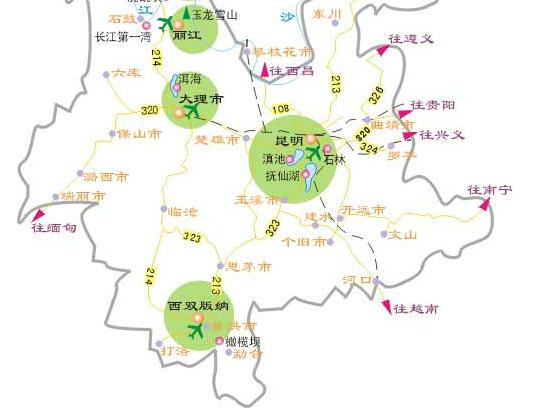 大理三塔线,丽江玉龙雪山+大型山水演出印象丽江
