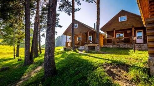 传统俄式木屋图片