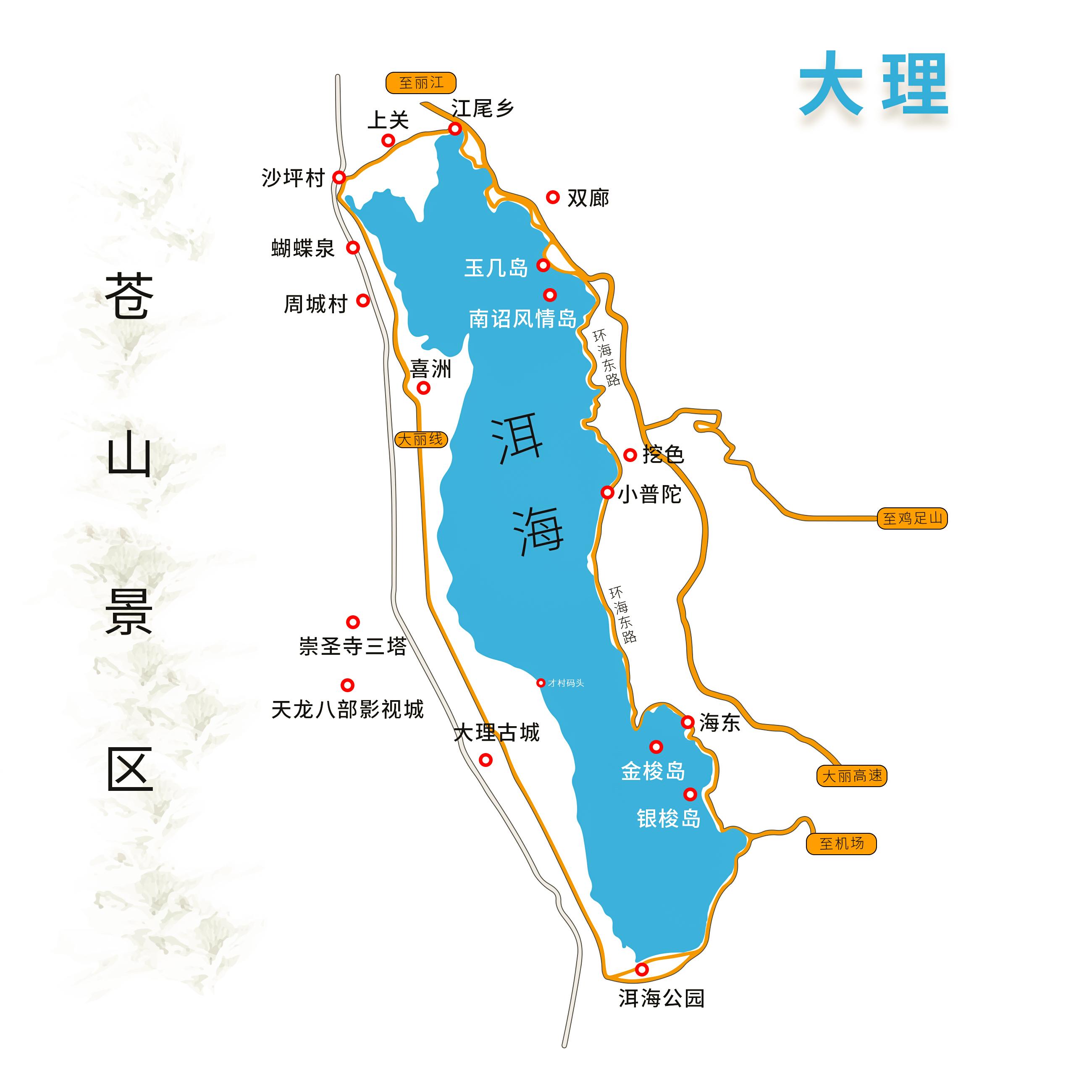 丽江旅游景点地图