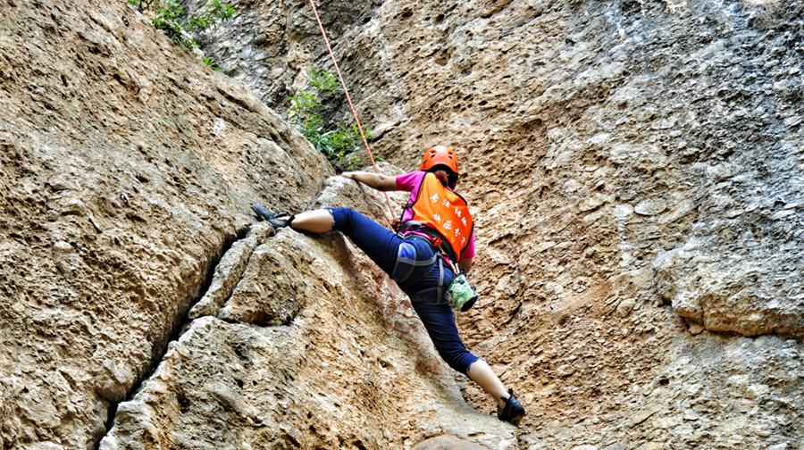 成长体验·大邑鹤鸣山天然岩壁攀岩速降