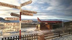 康克鲁斯瓦格机场特色指示牌