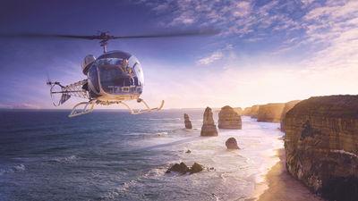 直升机飞大洋路