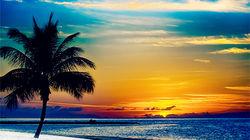 与爱人在Key West共赏美丽日落