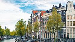 阿姆斯特丹运河街景