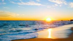 富豪的度假胜地 赏马里布海滩落日余晖