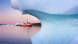 游船与冰川