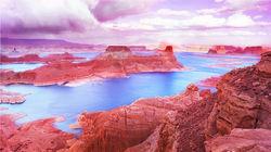 鲍威尔湖的光影演绎