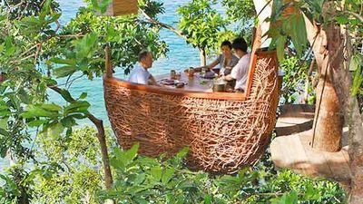 沽岛苏尼瓦奇瑞树屋用餐