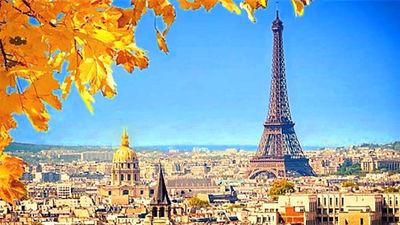 秋天美景 埃菲尔铁塔