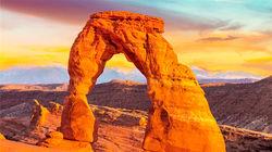 犹他州的标志 精致拱门