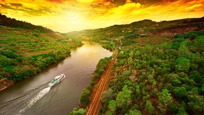 黄昏下的杜罗河谷