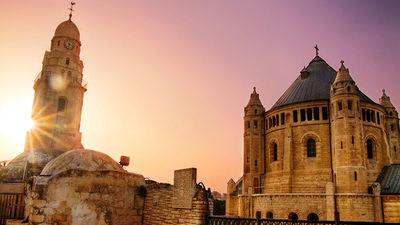 夕阳下的耶路撒冷老城