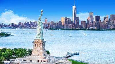 美国文明的象征---自由女神