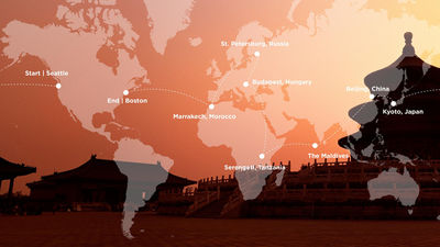 四季私人飞机-美食探索之旅路线图