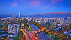 圣地亚哥城市夜景