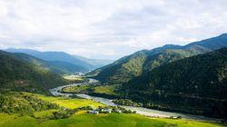 不丹山谷风光