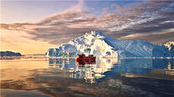游船看冰川峡湾
