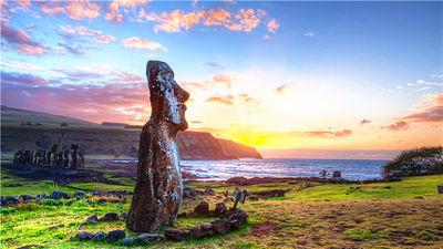 复活节岛第一缕阳光