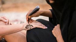 沙漠体验传统阿拉伯手绘