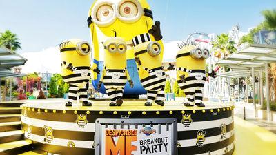 新加坡环球影城首个小黄人派对