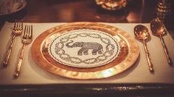 蓝象餐厅精美餐具