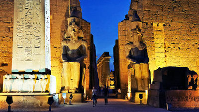 夜游卢克索神庙,打开历史之门