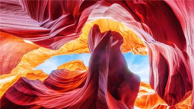 羚羊峡谷的色彩奇迹