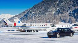 不乏搭乘私人飞机前来的名流