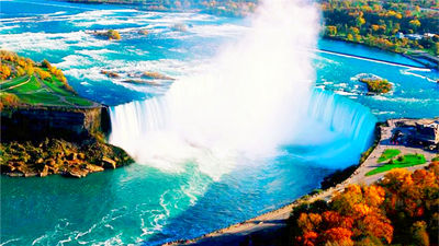 枫红点缀,瀑布绝景