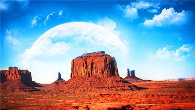 美国西部世界的象征 纪念碑谷