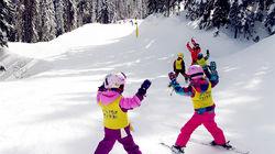 银星滑雪场,孩子们正在快乐的练习中