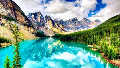 落基山脉的宝石-梦莲湖