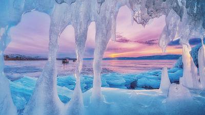 贝加尔湖看绝美蓝冰