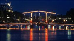 阿姆斯特丹瘦桥夜景