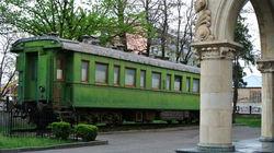 斯大林博物馆的绿皮火车