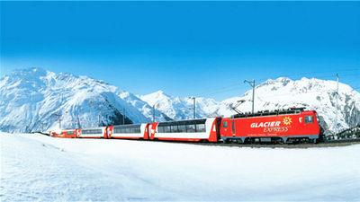 冰川景观列车