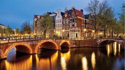 阿姆斯特丹古桥夜景