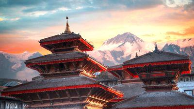 尼泊尔风情寺庙