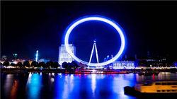 鸟瞰伦敦的地标建筑——伦敦眼