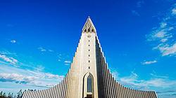 冰岛地标性建筑——哈尔格林姆斯教堂