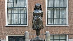 安妮.弗兰克铜像