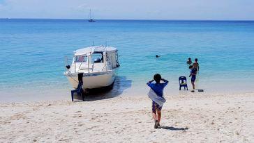 沙巴环滩岛潜水+荒野+皮划艇+队友BBQ午餐一海钓行动怎样跟鲍鱼花式跳伞图片