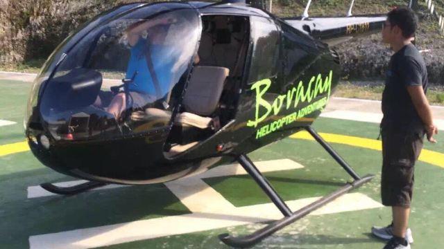 搭乘直升飞机俯瞰长滩岛