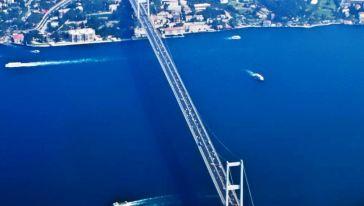 又名欧亚大桥,修筑在博斯普鲁斯海峡最窄处,是现代伊斯坦布尔的标志.图片