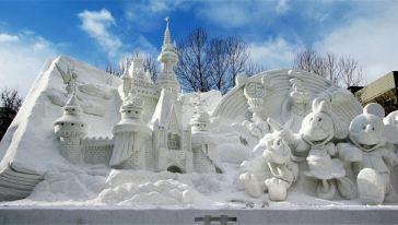 【北海道观雪3日深度游】札幌雪节看冰雕+旭山动物园精彩秀+层云峡图片