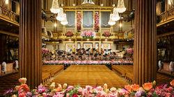 鲜花点缀的维也纳金色大厅